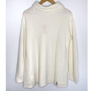 Vineyard Vines Textured Knit Cowl Neck Sweater